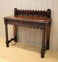 Carved Dark Oak Hall Table (2 of 9)