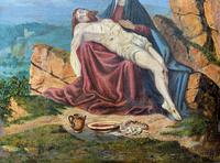 Pair of 19th Century Religious Old Master Oil Paintings - Set of 14 Available (28 of 32)