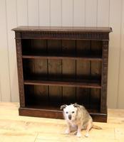 Dark Oak Open Bookcase (8 of 11)