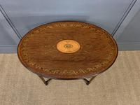 Fine Quality Oval Inlaid Mahogany Occasional Table (9 of 16)