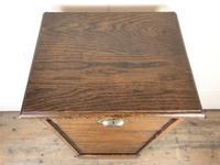 Antique Oak Tambour Filing Cabinet (4 of 9)