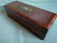 French Inlaid Amboyna Glove / Desk Box c.1870 (5 of 10)