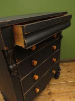 Antique Painted Black Chest of Drawers, Gothic Shabby Chic (7 of 14)