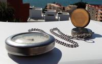 Victorian Solid Silver Omega Gurzelen Pocket Watch & Solid Silver Albert Chain (2 of 8)