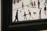Naive Industrial Street Scene Oil on Board by Walker Scott (8 of 9)