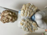 Pair of Small Dresden Victorian Style Porcelain Cherub Table Mirrors (29 of 60)