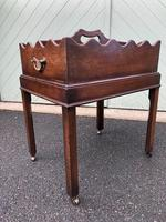 Antique Mahogany Tray on Stand (6 of 6)