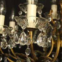 Italian Gilded 12 Light Double Tiered Antique Chandelier (5 of 10)