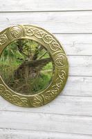 Arts & Crafts Movement Scottish / Glasgow School Circular Wall Mirror c.1900 (8 of 24)