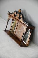 Victorian Inlaid Rosewood Overmantle Mirror Shelf (9 of 12)