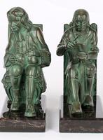 Max Le Verrier Pair Art Deco Patinated Bronze The Cobbler & The Financier Bookends (2 of 18)