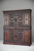 Gothic Revival Oak Cupboard (2 of 12)
