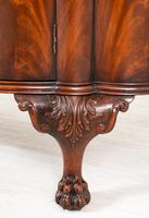 Stunning Mahogany Shaped Cabinet (3 of 8)