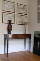 Antique Mahogany Bow fronted painted table Late Victorian (7 of 11)