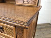 Edwardian Antique Oak Kneehole Desk (4 of 13)