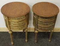 Two near identical louis XIV style bedsides (2 of 4)