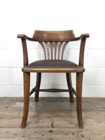 Pair of Early 20th Century Oak & Leather Desk Chairs (8 of 10)