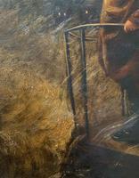 Newlyn School? Fab 19th Century Fishermen in Rough Seas Oil Portrait Painting (6 of 16)