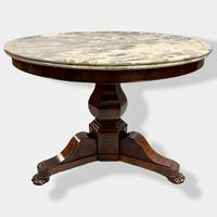 French Empire Marble Top Gueridon Centre Table