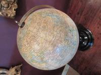 "Antique 8"" Paper Mache Terrestrial Globe (2 of 8)"