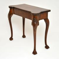 Antique Carved Walnut Card Table (8 of 10)