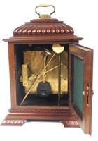 Vintage English Westminster Chime Bracket Clock – Solid Mahogany Musical Mantel Clock (9 of 10)