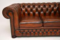 Antique Victorian Style Leather 2 Seat Chesterfield Sofa (8 of 13)