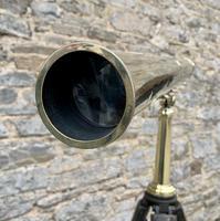 Antique Broadhurst Clarkson & Co Brass Telescope on Tripod (11 of 14)