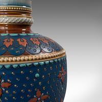 Pair of Antique Decorative Vases, German, Ceramic, Villeroy & Boch, Victorian (7 of 12)