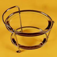 Original 1930s Art Deco Chrome & Mirror Modernist Cocktail Trolley (7 of 7)