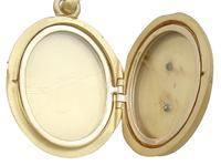 Blue Enamel & 18ct Yellow Gold Locket - Antique Victorian (6 of 9)