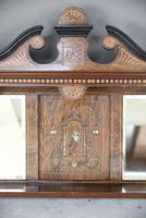 Victorian Inlaid Rosewood Overmantle Mirror Shelf (6 of 12)
