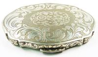 Continental Silver Loose Powder Compact 1950s (8 of 8)