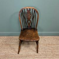Six Country House Kitchen Elm Antique Windsor Chairs (4 of 6)