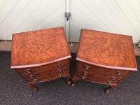 Pair of Antique Burr Walnut Bedside Chests (6 of 9)