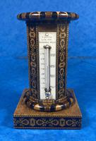 Victorian Burr Maple Thermometer & Compass by Thomas Barton (14 of 14)