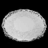 Exceptional Large Solid Sterling Silver Victorian Salver/tray/platter 47cm with Cast Border - Hunt & Roskell - Storr Mortimer & Hunt (5 of 29)