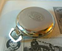 Antique Pocket Watch 1920s Winegartens 7 Jewel Railway Regulator Silver Nickel Case FWO (7 of 12)