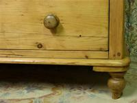 Small Edwardian Pine Chest of Drawers Stripped & Bees-waxed (9 of 9)