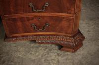 Large Mahogany Serpentine Shaped Partners Desk (5 of 20)