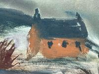 Scottish Mixed Media Painting Cottages in Ayrshire Signed Robert Sinclair Thomson 1915-1983 ARSA, RSW (6 of 27)