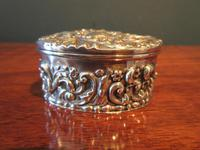 Antique Silver Heart Shaped Trinket Box (3 of 7)