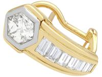 2.17ct Diamond & 18ct Yellow Gold Earrings - Vintage c.1950 (2 of 9)