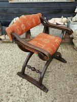 Quality Near Pair of Mahogany Antique x frame Chairs (4 of 5)
