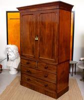 Wardrobe Compactum Linen Press Flame Mahogany (7 of 13)