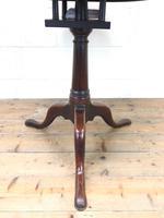 Antique Mahogany Tilt Top Table (5 of 9)