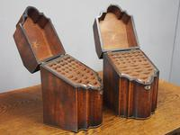 Pair of George III Inlaid Mahogany Cutlery Boxes (3 of 9)
