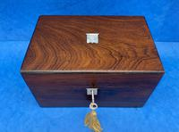 Victorian Rosewood Box with Mother of Pearl Inlay (4 of 11)