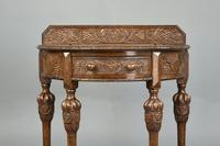Demi Lune Carved Oak Hall Table (3 of 5)