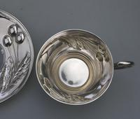 Eduard Friedman - Extremely Rare 800 Solid Silver Vienna Cup & Saucer 1900 (10 of 15)